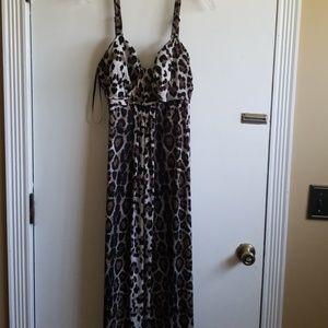 Fashion Bug cheetah Maxi dress 1X